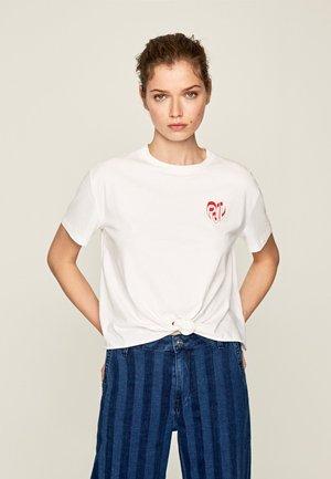 FLEUR - Print T-shirt - optic weiss