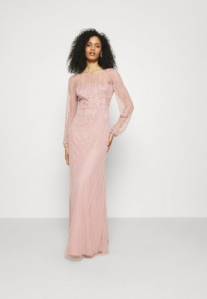 BEADED GOWN WITH FULL SKIRT - Iltapuku - candied ginger