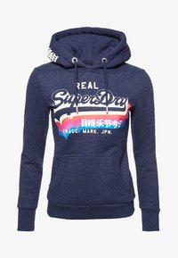 Superdry - RAINBOW SHADOW - Jersey con capucha - blue - 4