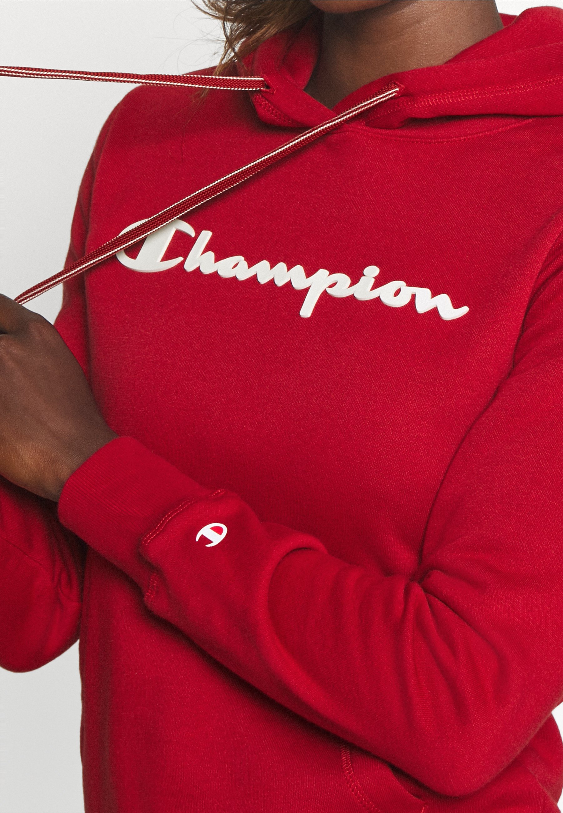Champion ESSENTIAL HOODED LEGACY - Sweat à capuche - dark red