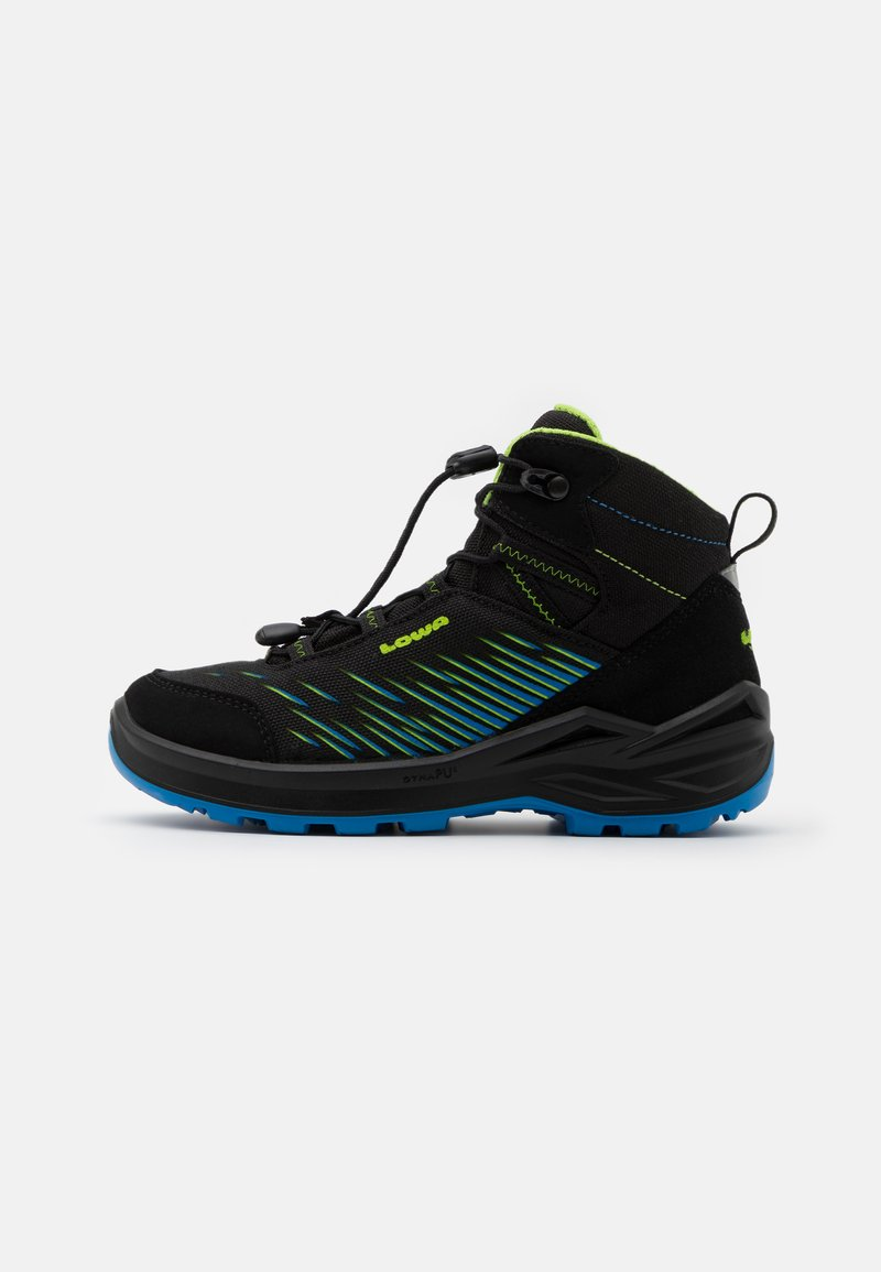 Lowa - ZIRROX GTX MID JUNIOR UNISEX - Hiking shoes - schwarz/limone