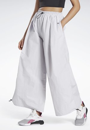 WIDE LEG WOVEN TRACKSUIT BOTTOMS - Tracksuit bottoms - white