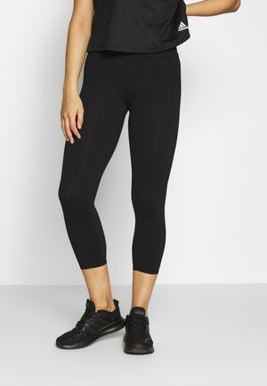 ACTIVE CORE CROPPED - Leggings - black
