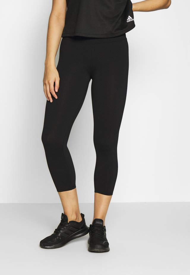 ACTIVE CORE CROPPED - Collants - black