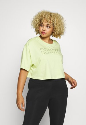 AIR CROP PLUS - Print T-shirt - limelight