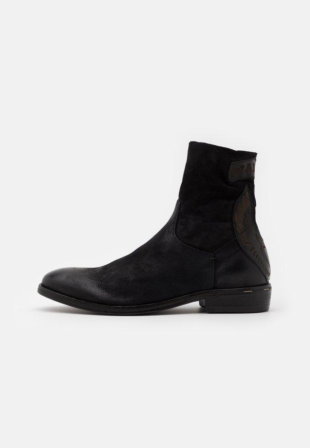 MASONMETAL - Cowboy/biker ankle boot - nero