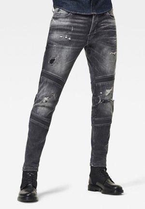 MOTAC 3D SLIM  - Jeans slim fit - vintage ripped basalt