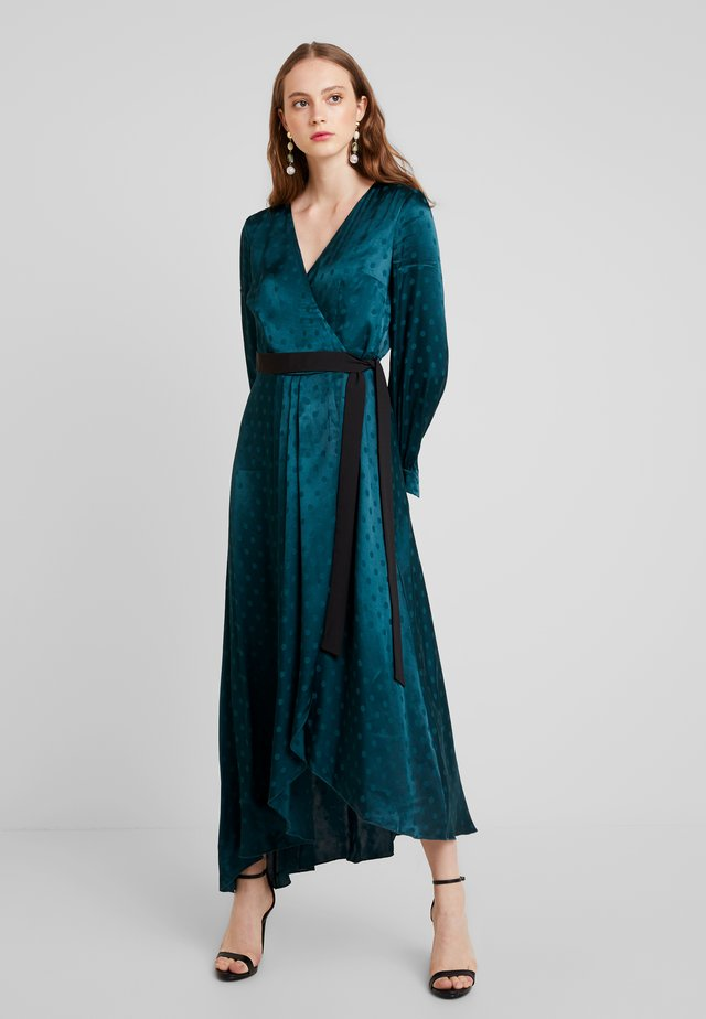 TASMIN POLKA DOT ASYMMETRIC WRAP DRESS - Robe de soirée - green