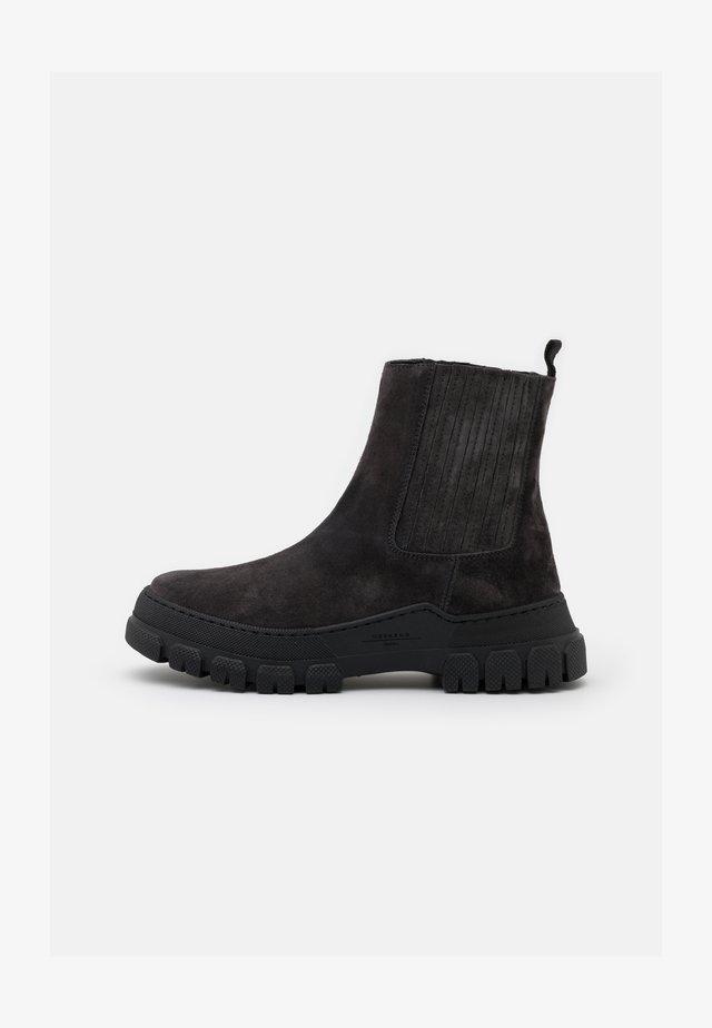 GENEPI - Platform ankle boots - dark grey