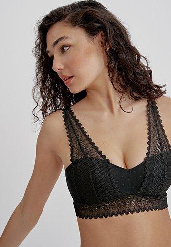 JADE - Balconette bra - black