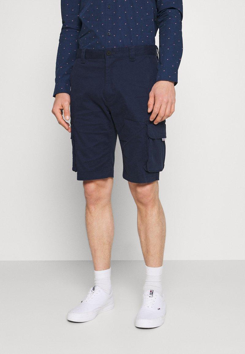 Tommy Jeans - WASHED CARGO - Shorts - twilight navy