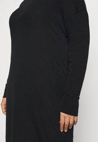Evans - COWL DRESS - Pletené šaty - black - 5