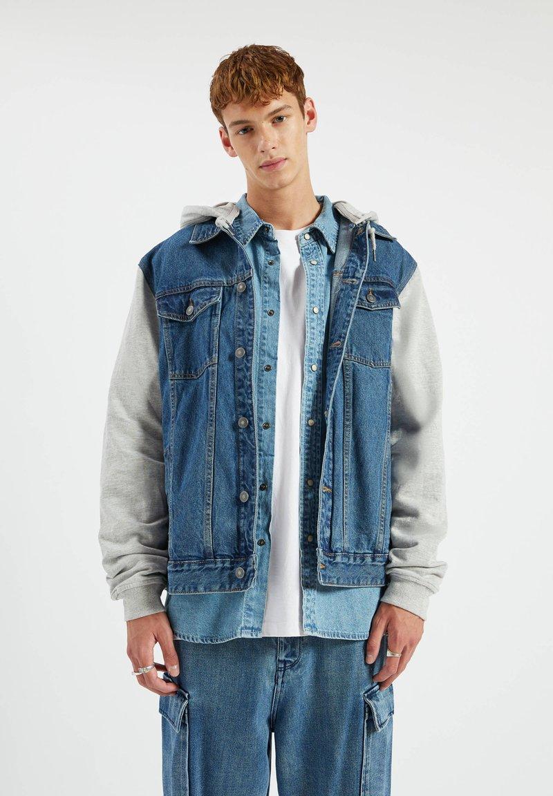 PULL&BEAR - Denim jacket - light-blue denim