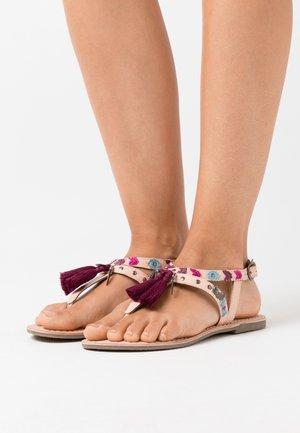 NAYA - T-bar sandals - nude