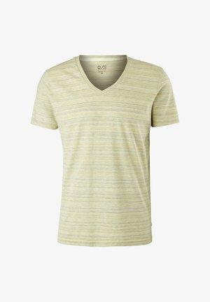 ARBORANT LA TEXTURE DU FIL FLAMMÉ - T-shirt con stampa - yellow melange