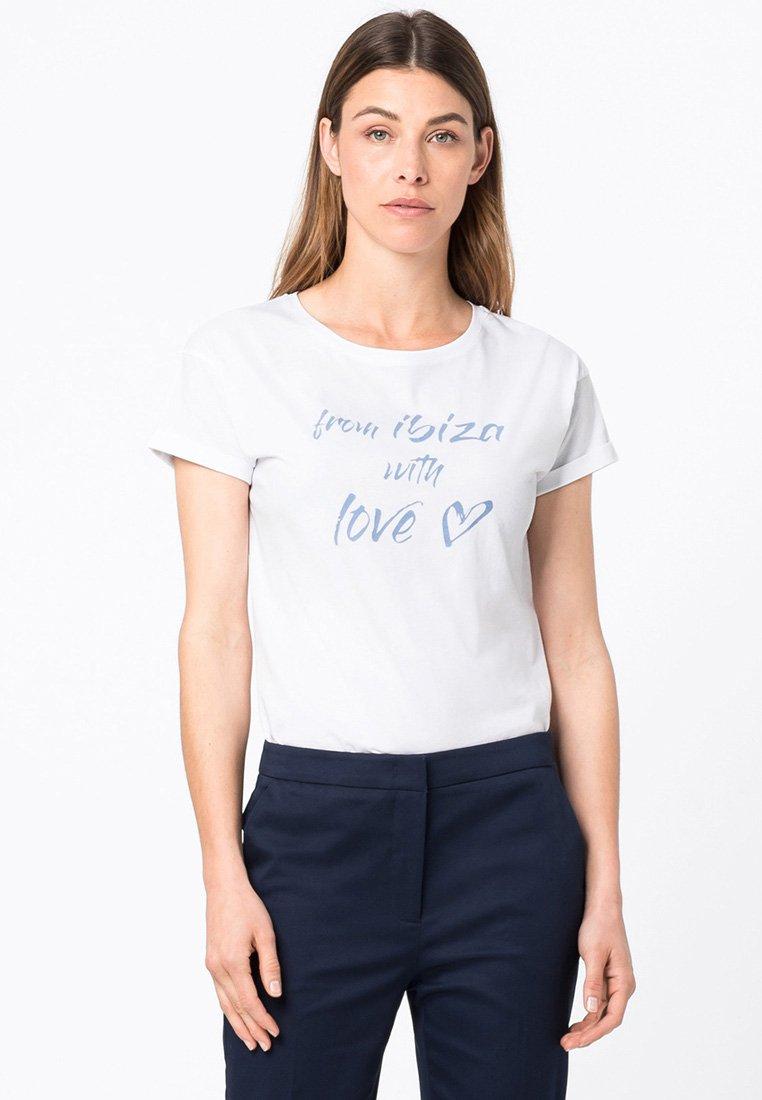 HALLHUBER - Print T-shirt - weiß