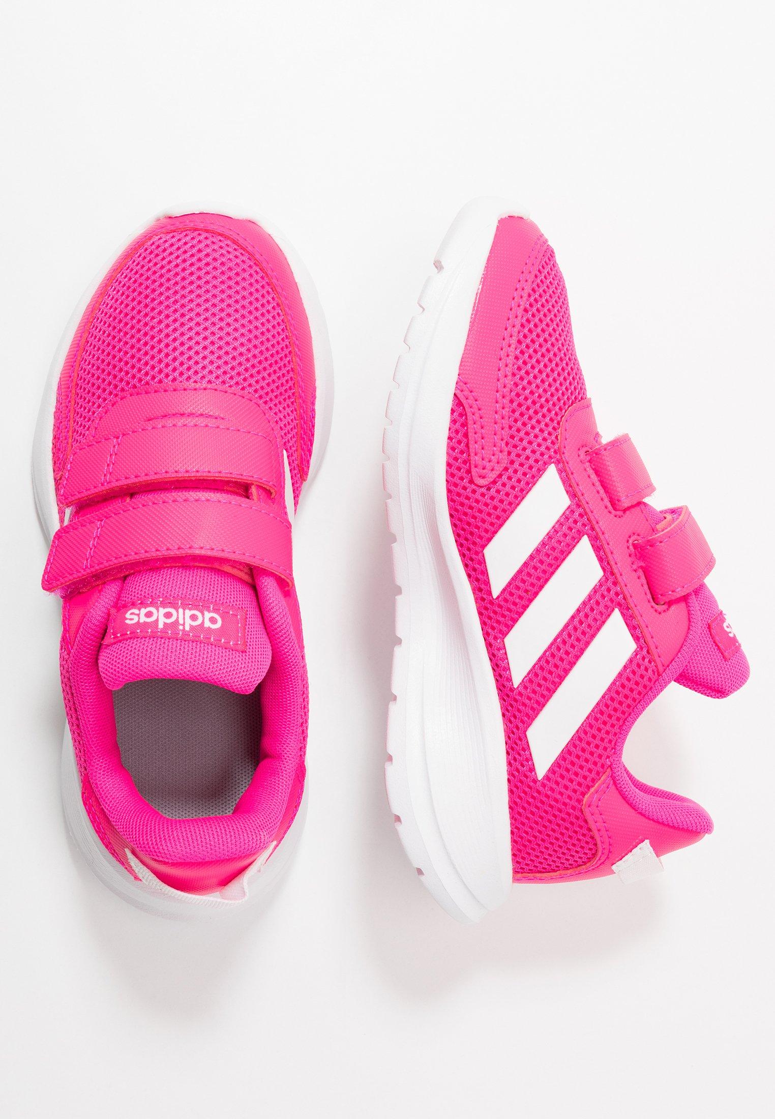 Enfant TENSAUR RUN UNISEX - Chaussures de running neutres - shock pink/footwear white/shock red