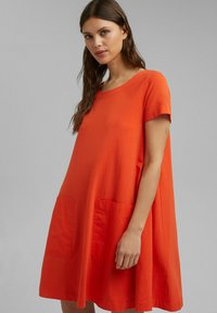 Esprit - DRESS - Jersey dress - orange red - 0