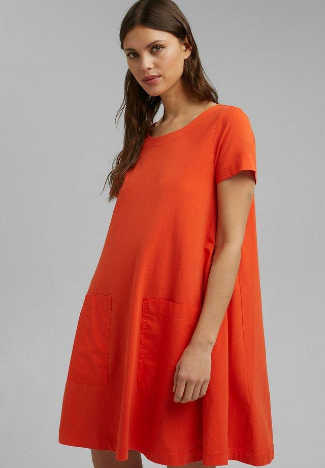 Jersey dress - orange red