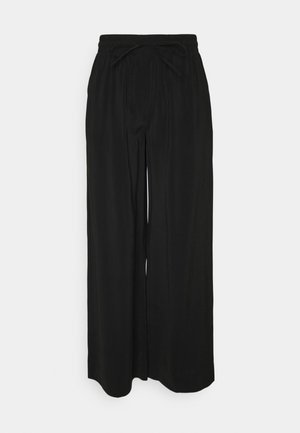PCCINDRA WIDE PANTS - Trousers - black