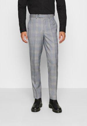 POW CHECK TROUSERS - Pantalón de traje - blue