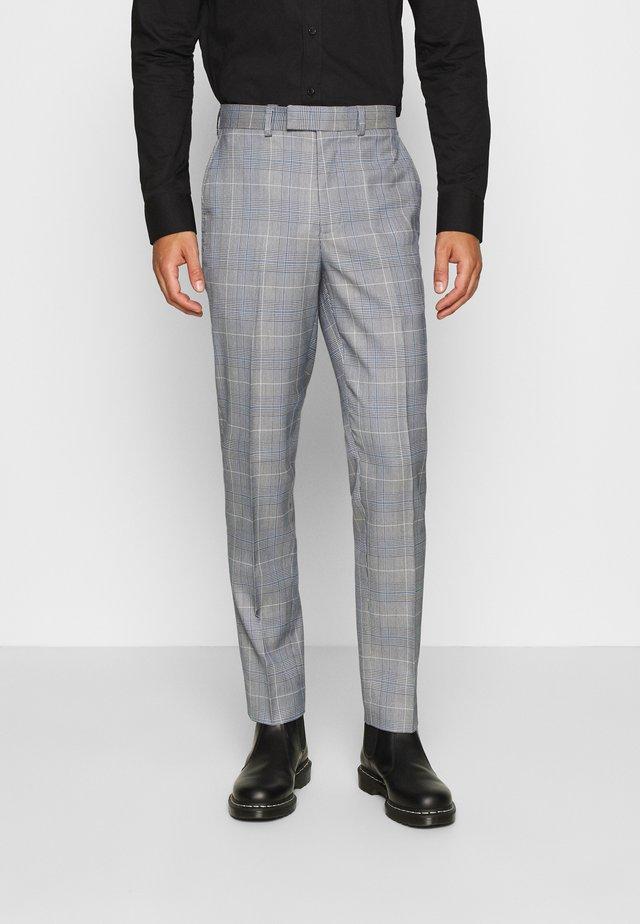 POW CHECK TROUSERS - Oblekové kalhoty - blue