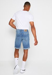Denim Project - LIGHT DESTROY - Denim shorts - sicily blue - 2