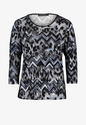 Long sleeved top - grey/blue