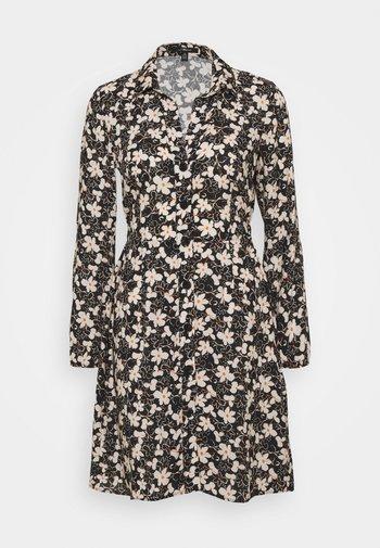 LONG SLEEVE DRESS - Košilové šaty - black