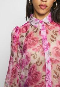 Missguided - SHEER ROSE SHIRT - Blouse - pink - 4
