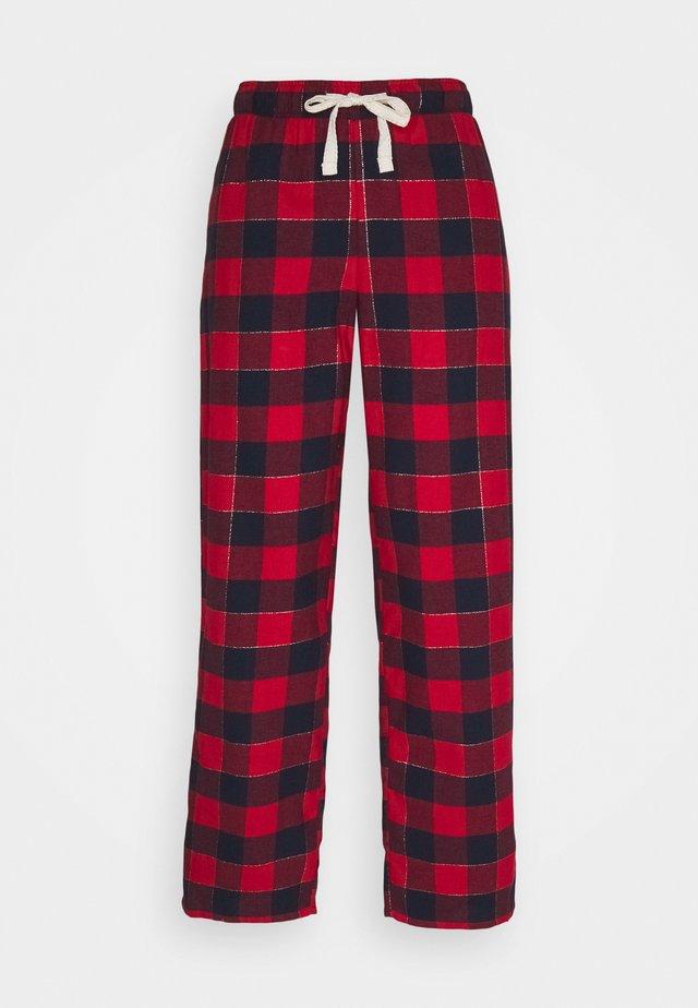 DEAL CHECK PANT - Pyjamabroek - red