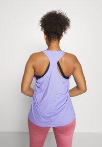Nike Performance - TANK ALL OVER PLUS - Sports shirt - light thistle/(white) - 2