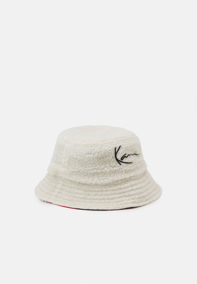 SIGNATURE REVERSIBLE BUCKET HAT UNISEX - Hut - beige