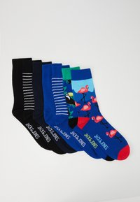 Jack & Jones - JACPATTER VS STRIP SOCKS 7 PACK - Chaussettes - surf the web/black/navy blazer - 0