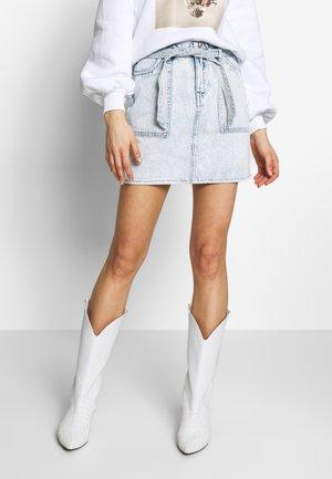 NMKYRA SKIRT - Denim skirt - light blue denim