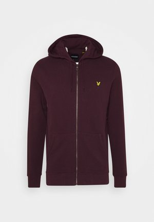 ZIP THROUGH HOODIE - Huvtröja med dragkedja - burgundy