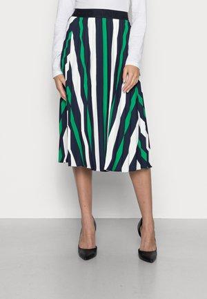 PLEATED STRIPE SKIRT - Spódnica trapezowa - lavish green