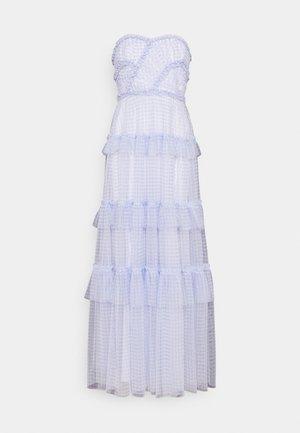 CAROLINE GINGHAM GOWN - Společenské šaty - wedgewood blue/ ivory