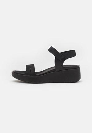 FLOWT WEDGE  - Platform sandals - black