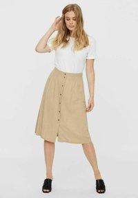 Vero Moda - Pleated skirt - beige - 1