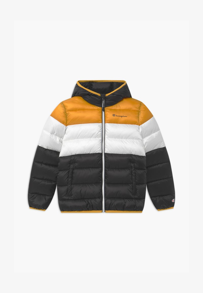 Champion - COLOR BLOCK UNISEX - Winter jacket - black/white/yellow