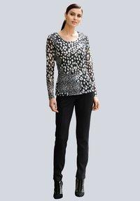 Alba Moda - Long sleeved top - schwarz,weiß,taupe - 1