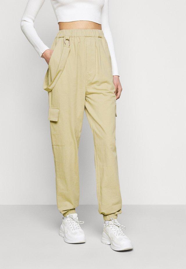 RING STRAP PANT - Pantalon classique - beige