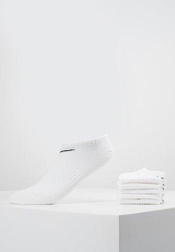 EVERYDAY LIGHTWEIGHT 6 PACK - Calcetines tobilleros - white/black