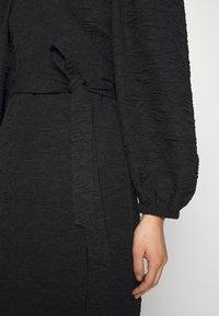 JUST FEMALE - TODA WRAP DRESS - Day dress - black - 5