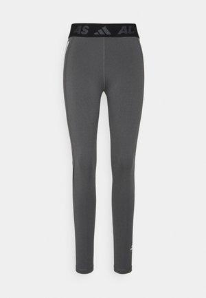 TECHFIT 3-STRIPES LONG TIGHTS - Leggings - dark grey heather/white
