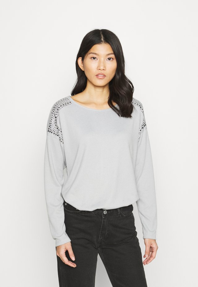STUD SHOULDER CUT & SEW TOP - Jersey de punto - grey