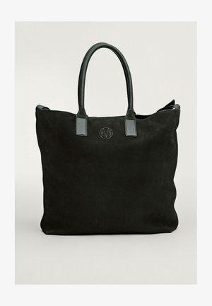 Tote bag - blue/black denim