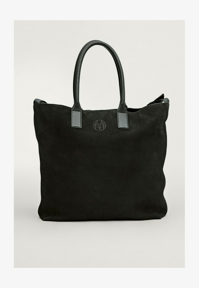 Shopping bag - blue/black denim