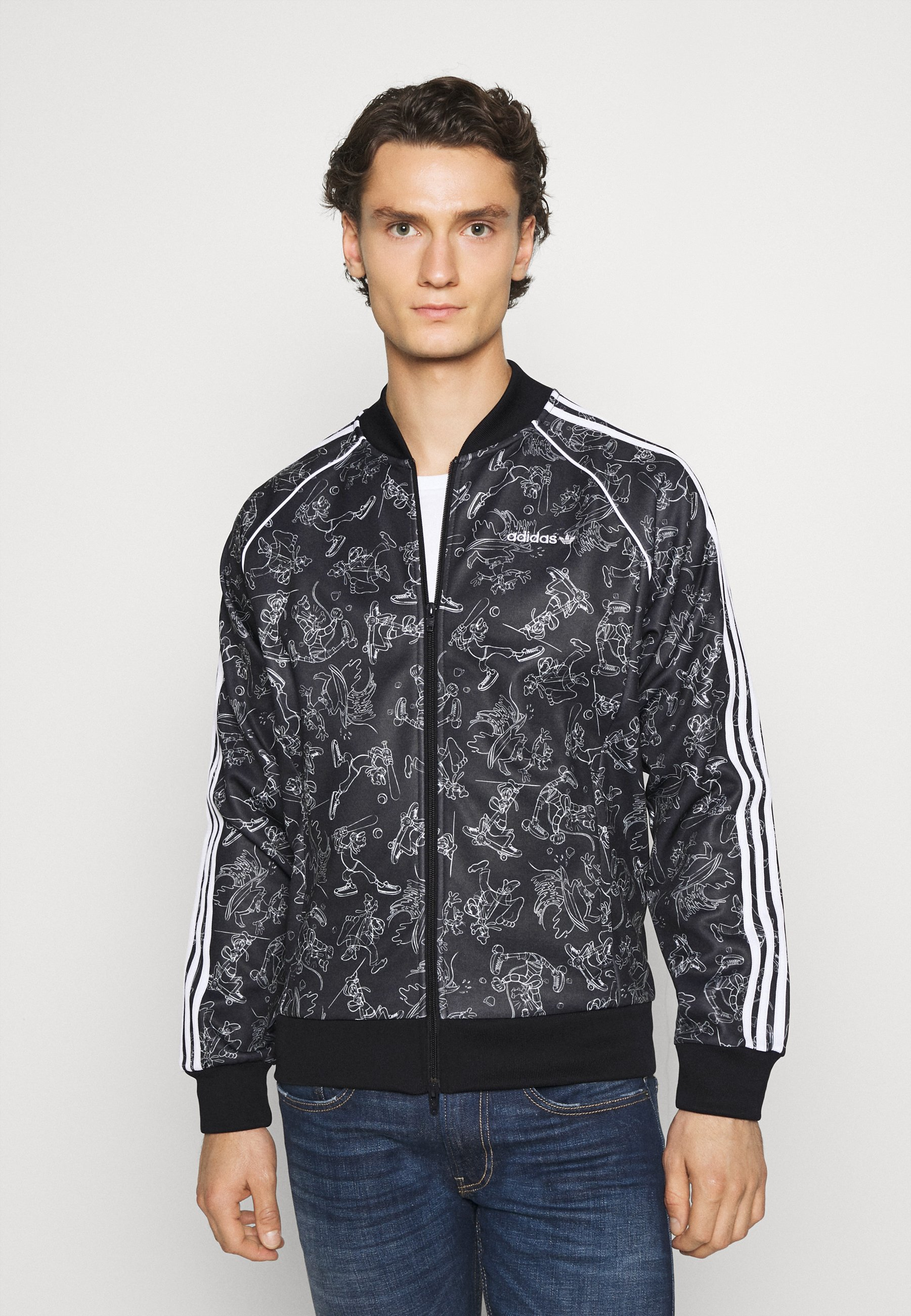 adidas x Disney Goofy SST Track Jacket (Black White) | HHV
